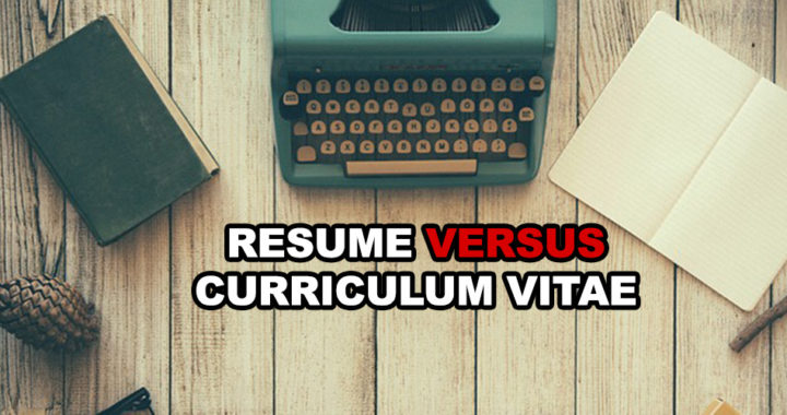 The differences between a resume and a curriculum vitae